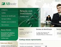 Proposta Site Corporativo ABNOTE