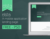 elsta  - A mobile application landing page (FREE PSD)
