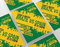 Brazil Soccer Cup Match Flyer