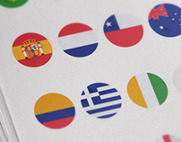 Flat Teams Flags Brazil Soccer Cup 2014
