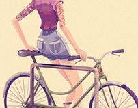 Hipster With A Bike