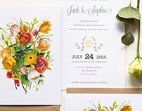 Wildflower Wedding Stationary