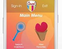 CARVEL Mobile App Design