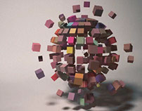 3D cubes animation