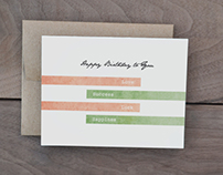 Simple Rustic Birthday Cards