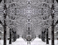 Hypnotic vision after a snowfall in Milan - Italy