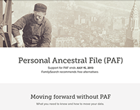 Personal Ancestry File (PAF) Retirement Page