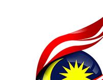 Konsep logo hari kemerdekaan yang ke 57