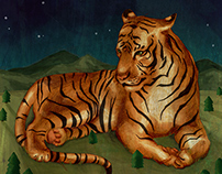 Giant Tiger Illustration