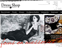 Dress Shop - website, identity graphics, newsletter