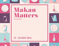 Makan Matters Exhibition: Branding