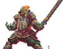 Link vs Ganondorf pixel