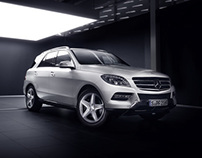 Mercedes Benz ML 500 _ Indoor - Retouching