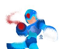 Megaman / Rockman minimalist splash poster
