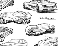 Scketch cars