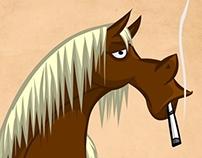 Smoking Horse Animation