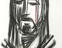 Rostro de Cristo a carboncillo / Drawing