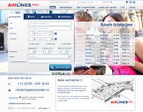 Airlines4all.com travel website redesign