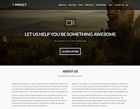 Impact - Multipurpose Single/Multi Page Theme