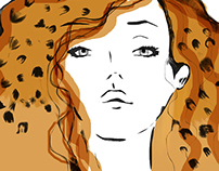 La fille aux cheveux léopard