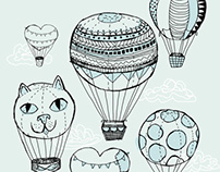 Dreaming of Hot Air Balloons Illustration