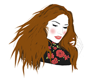 """Illustration de la blogueuse: """"La couleur du moment"""""""