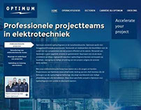 Optimum Elektrotechniek website redesign