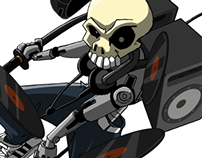 Character Design - Basshead Skull