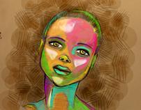 multicolor afro