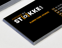 Business card for B.T. Stokke