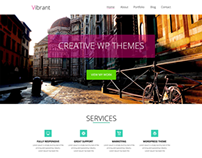 Vibrant- One Page PSD Template