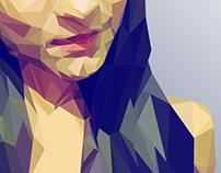 Low poly portrait (process).
