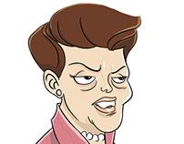 Caricaturas Dilma e Aécio
