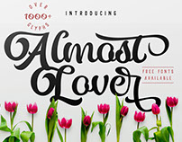 Almost Lover + Free Fonts