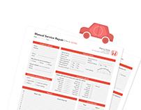 Honda service repair | Redesigning paper forms