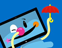 Mircosoft Surface Cartoon
