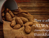 Potato Harvest with Quote