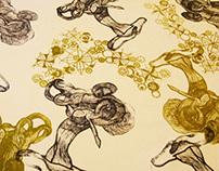 Hidden World pattern printed textiles