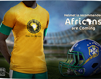 Helmet is recommended, Africans are coming