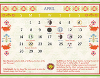Calender Design inspired by Panchang