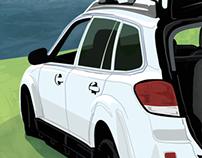 Subaru Sleepover Illustration