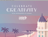 Wetransfer wallpaper for Cannes Lions 2014