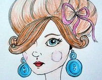 girl with the button earing