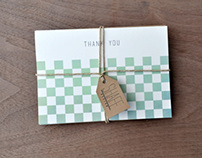 Checkerboard Thank You Cards