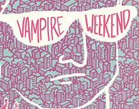 Vampire Weekend Gig Poster