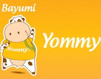 Yogurt Yommy, Dño de Producto y Piezas Promocionales.