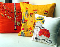 Cushion Covers in tie & dye and embroidery