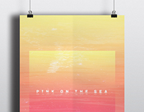 Pink On The Sea Poster