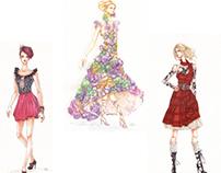 Fashion Illustrations & Technical Flats