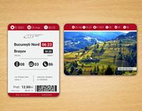 Rail ticket redesign